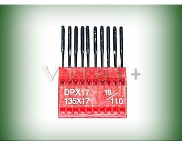 Промышленные швейные иглы DPx17 AMF для колонковых и прямострочных машин, для тяжелых тканей и кожи