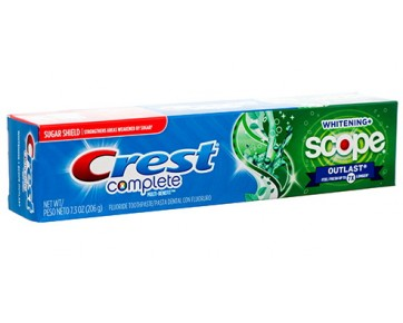 Зубная паста CREST COMPLETE MULTI-BENEFIT EXTRA WTHITE PLUS SCOPE OUTLAST 206 г