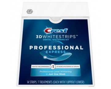 Полоски для отбеливания зубов Crest 3D Whitestrips Professional Express