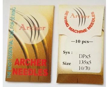 Промышленные швейные иглы DPx5 Archer - прямострочные швейные машины  для среднихи тяжелых тканей