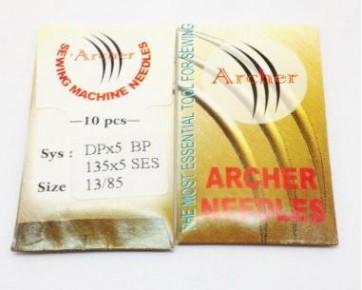 Промышленные швейные иглы DPx5 SES/135x5 SES Archer - прямострочные швейные машины  для средних и тяжелыхтрикотажных тканей