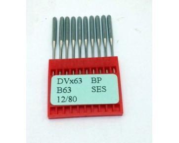 Промышленные швейные иглы DVx63 SES Dotec для распошивальных машин цепного стежка, трикотажные ткани