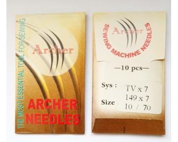 Игла TVx7 Archer для швейных машин двухниточногоцепного стежка
