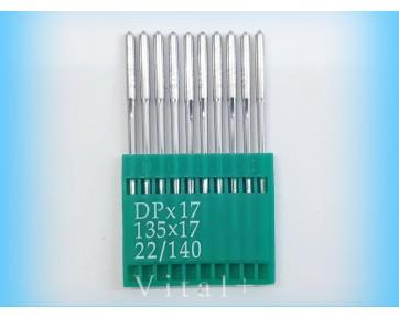 Промышленные швейные иглыDotecDPx17 для колонковых и прямострочных машин, тяжелые ткани и кожаные изделия.