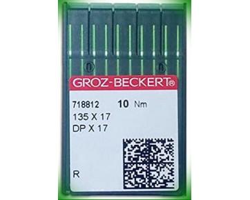 Промышленные швейные иглыGroz-BeckertDPx17 для колонковых и прямострочных машин, тяжелые ткани и кожаные изделия.