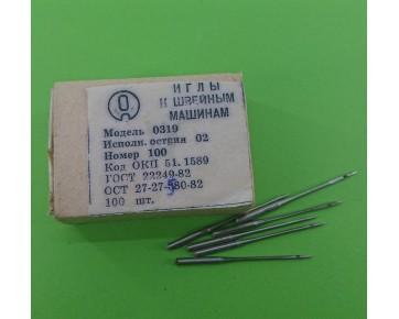 Промышленные швейные иглы 0319-02/DPx5 для прямострочных машин, цена за 100 шт.