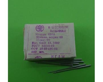 Промышленные швейные иглы 0518-02/ TVx7 для распошивальных машин, цена за 100 шт.