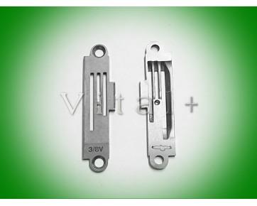 Игольная пластина B1190-522-V00 3/8 Тайвань для швейных машин Juki, Typical, Suruba с обрезкой края
