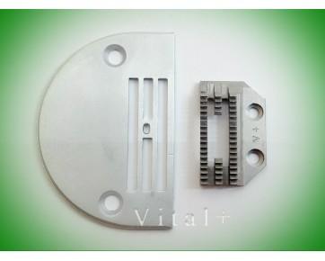 Сменный комплект (игольная пластина B1109-450-D00 + двигатель ткани 1022М)