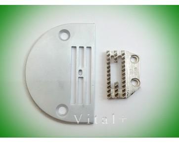 Сменный комплект (игольная пластина B1109-450-D00 + двигатель ткани B1613-450-D00), Китай