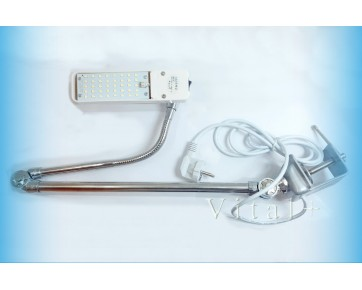 Светильник 98TS LED  для швейных машин на струбцине с вилкой
