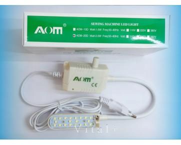 Светильник для швейной машины AOM-20D, на гибкой ножке с вилкой