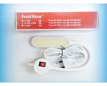Светильник Hotfox H-36A-COB, для швейных машин на гибкой ножке с вилкой