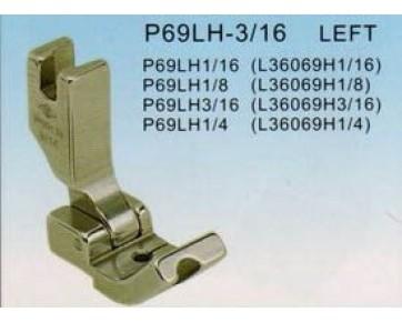 Лапка P69LH на кедер левая подпружиненная, Китай