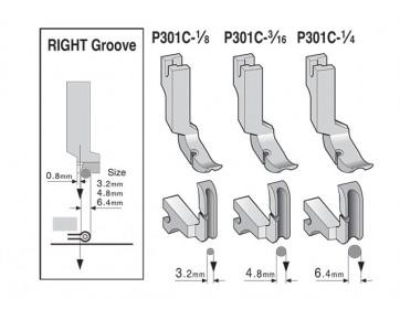 Лапка P301C для вшивания молнии и кедера  левая