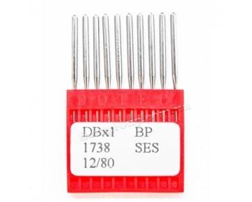 Промышленные швейные иглы DBx1 SES/1738 SES Dotec для прямострочных машин, легкие и средние ткани, трикотаж