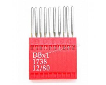 Промышленные швейные иглы Dotec DBx1 для прямострочных машин,  легкие и средние ткани